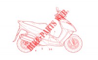 Guard decal para Aprilia Leonardo 1998