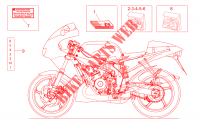 Op.'s handbooks and decal para Aprilia 50 RS 1999